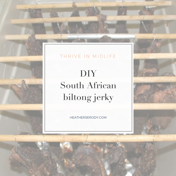 DIY South African biltong jerky - Thrive In Midlife