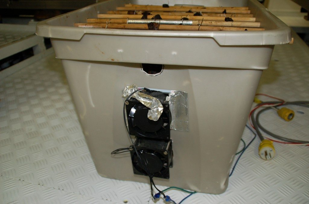 Install a fan in your drying tub.