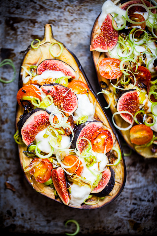 Roasted eggplant, fig, and mozzarella pizzas | Thrive In Midlife