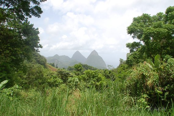 St. Lucia - The Pitons in the distance