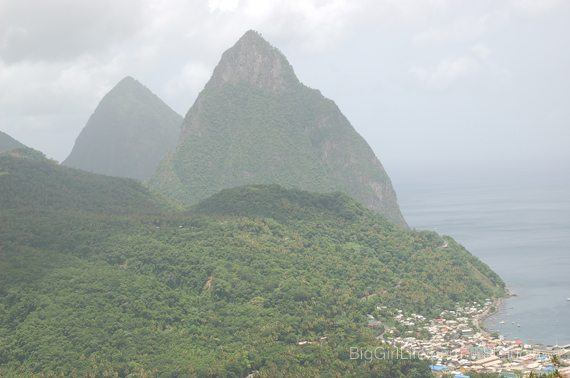 St. Lucia - The Pitons in the distance - 2