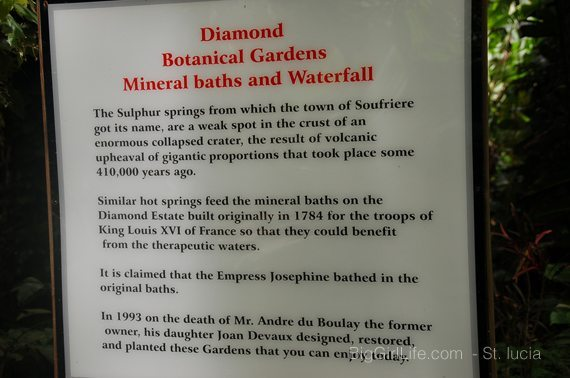 About diamond botanical gardrens & waterfall