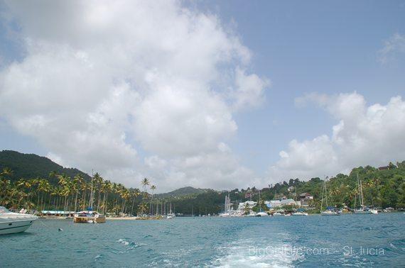 entrance to marigot Bay, St. Lucia
