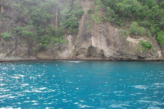 splash - St. Lucia cliffside jump