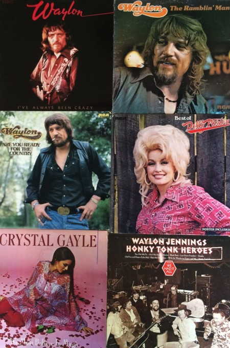 Dad's country music albums