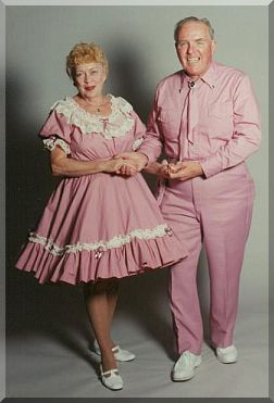 This nice couple aren't my square dancing neighbors, but the sure look like them.