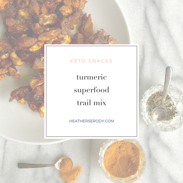 keto turmeric superfood trail mix | Thrive In Midlife