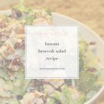 famous broccoli salad recipe - Thrive In Midlife