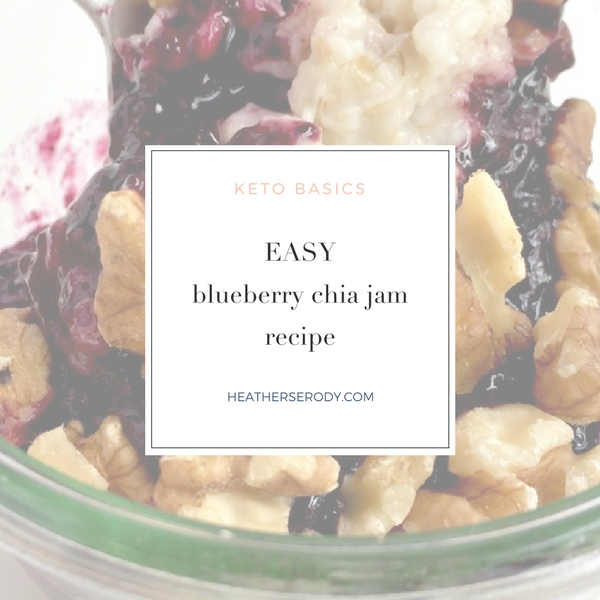 easy blueberry chia jam recipe | Thrive In Midlife
