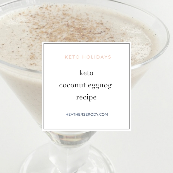 keto coconut eggnog recipe - Thrive In Midlife