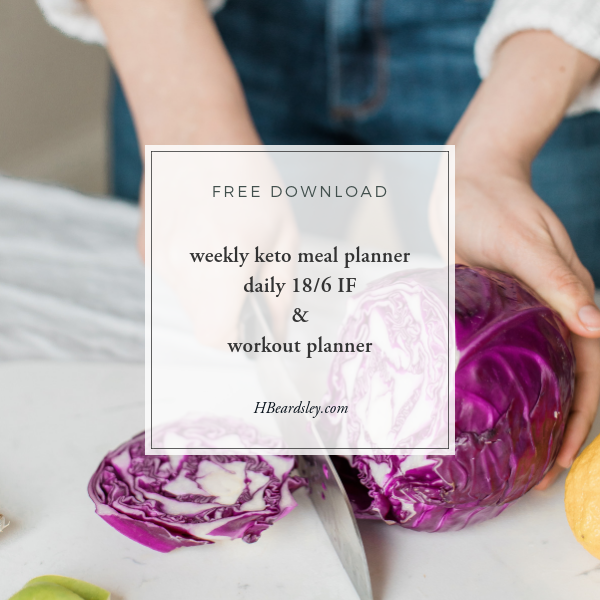 Weekly Keto Meal Planner Daily 18 6 IF & Workout Planner - HBeardsley.com