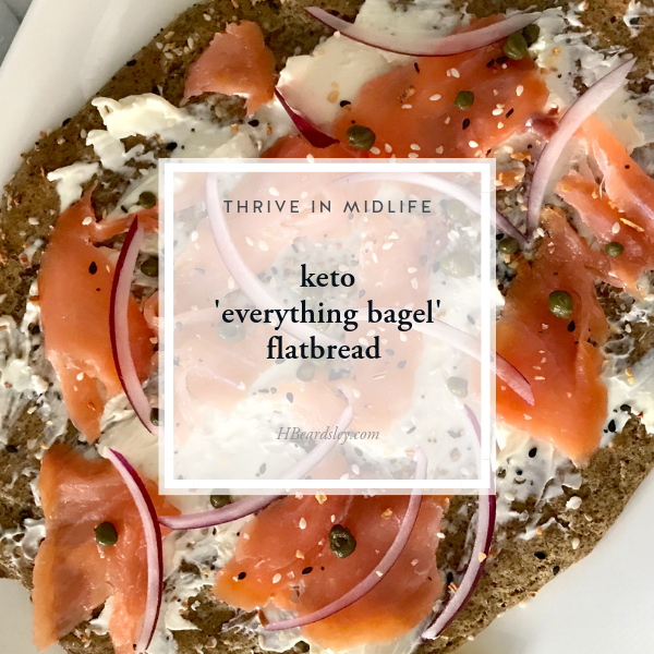 keto 'everything bagel' flatbread - HBeardsley.com