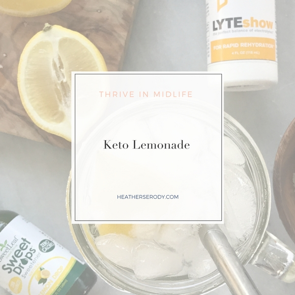 Keto Lemonade- Thrive In Midlife