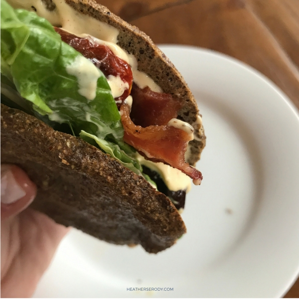 low carb BLT sandwich- Thrive In Midlife