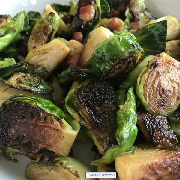 seared Brussels sprouts with pancetta