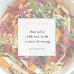 thai salad with low carb peanut dressing-Thrive In Midlife