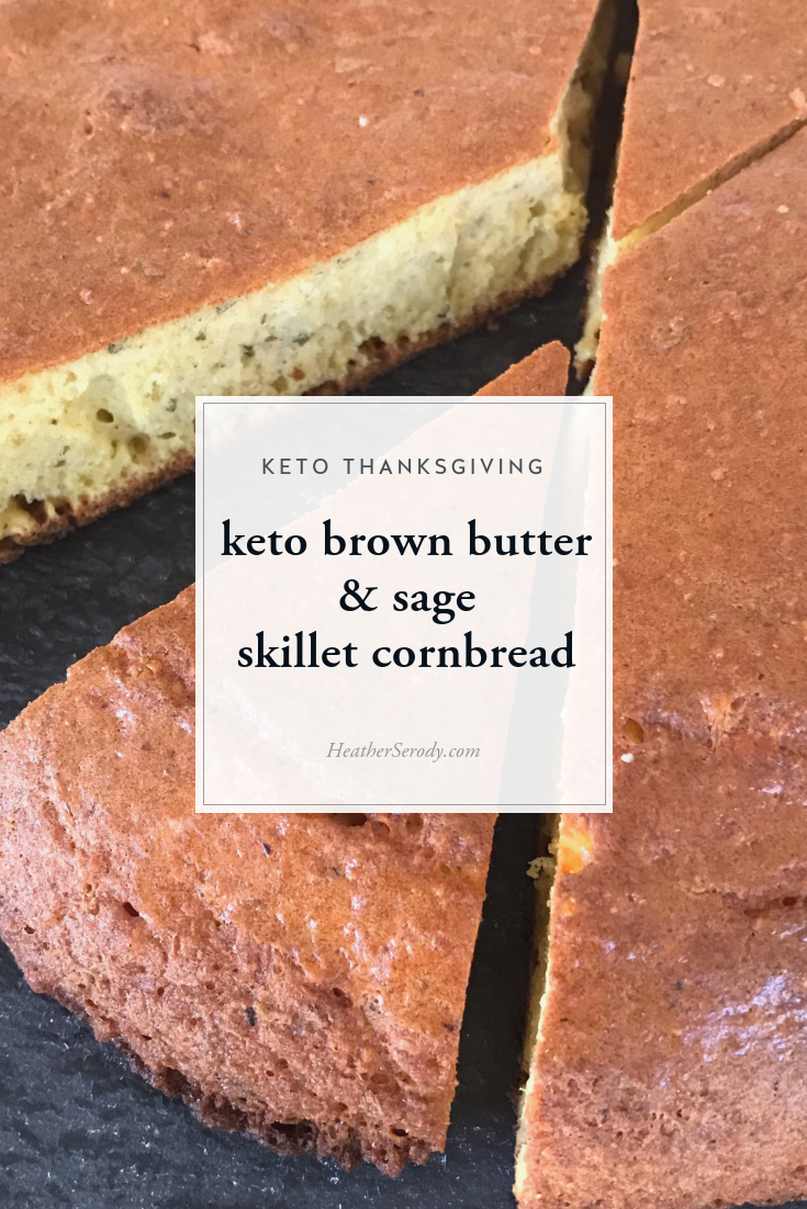 This is a great approximation to traditional cornbread, and it has a lovely corn flavor and lots of nice air pockets for texture but it doesn't pretend to taste exactly the same.  This keto copycat recipe is a nice substitute when keeping carbs low is a priority. For each slice of my keto cornbread, you save a whopping 49 grams of carbohydrate per slice as compared to regular cornbread! #keto #thankgiving #ketorecipes #ketoholiday