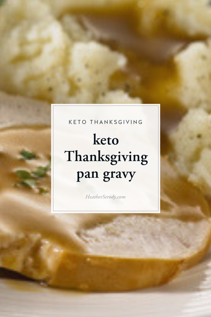 Flour, cornstarch or arrowroot flour are traditionally added to pan drippings to thicken your gravy, but these have 6 to 7 grams of carbs per tablespoon. A keto-friendly alternative is to use guar gum. Make sure you have your guar gum on hand before your holiday in order to make a low-carb pan gravy. #keto #thankgiving #ketorecipes #ketoholiday