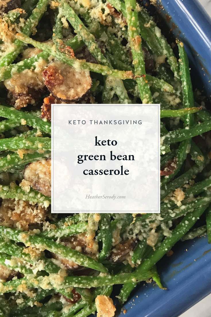 keto green bean casserole | Thrive In Midlife - This is a classic Thanksgiving recipe that is super easy to make keto-friendly. #keto #thankgiving #ketorecipes #ketoholiday