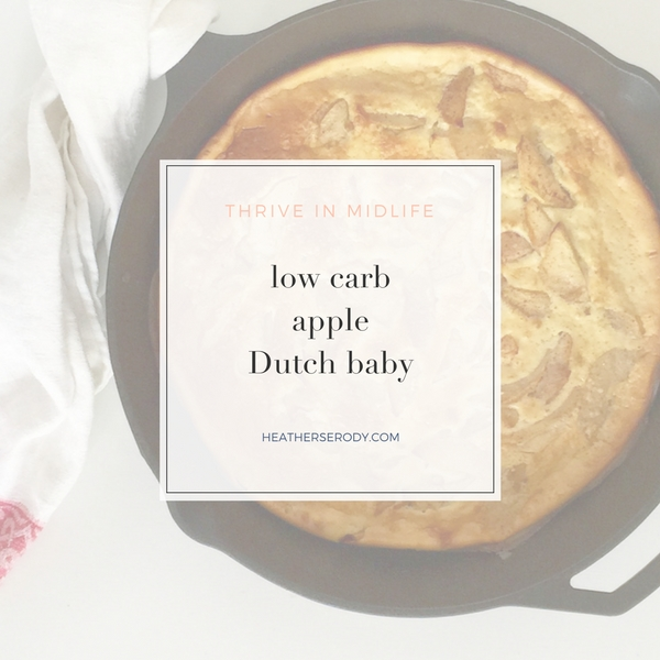 low carb apple Dutch baby -Thrive In Midlife