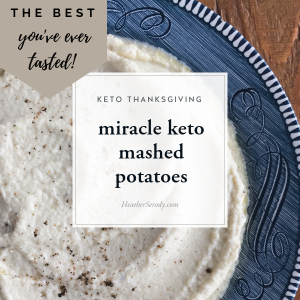 I experimented with all kinds of methods to elevate cauliflower to become as light, rich, and savory as the very best traditional mashed potatoes. These keto mashed potatoes are completely creamy yet light and as savory as traditional potatoes, contain far fewer carbs, and are so much easier to make than traditional mashed potatoes, which is why these keto mashed potatoes are a legit miracle! #keto #thankgiving #ketorecipes #ketoholiday