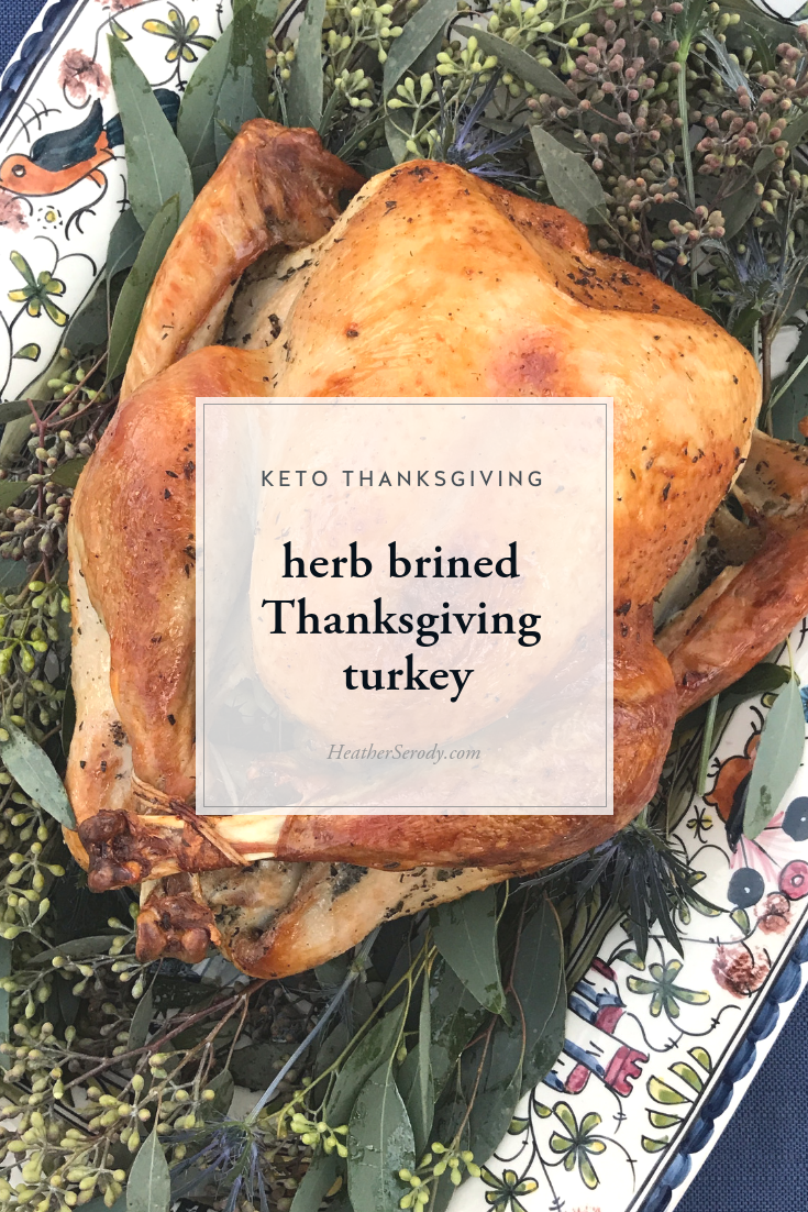 dry brined Thanksgiving turkey | Thrive In Midlife - this dry-brined roast turkey recipe is part of my complete keto Thanksgiving meal plan to make...