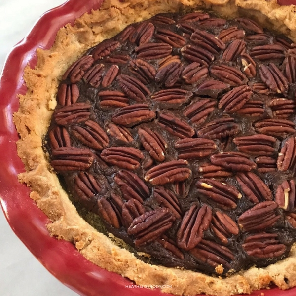 keto chocolate pecan pie - Thrive In Midlife