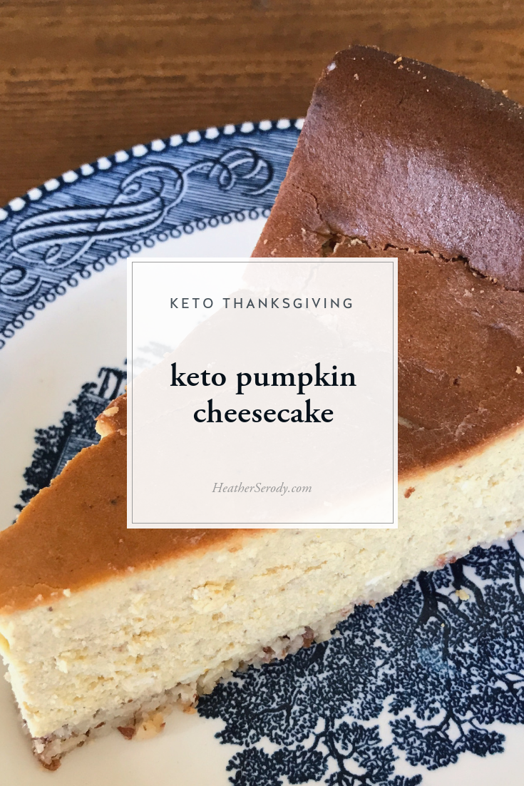 keto pumpkin cheesecake | This cheesecake gives you the density, texture, and tang of traditional cheesecake, but with a subtle pumpkin flavor that you crave on Thanksgiving without all the carbs.
