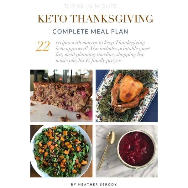 Thanksgiving meal plan graphic - Thrive in Midlife
