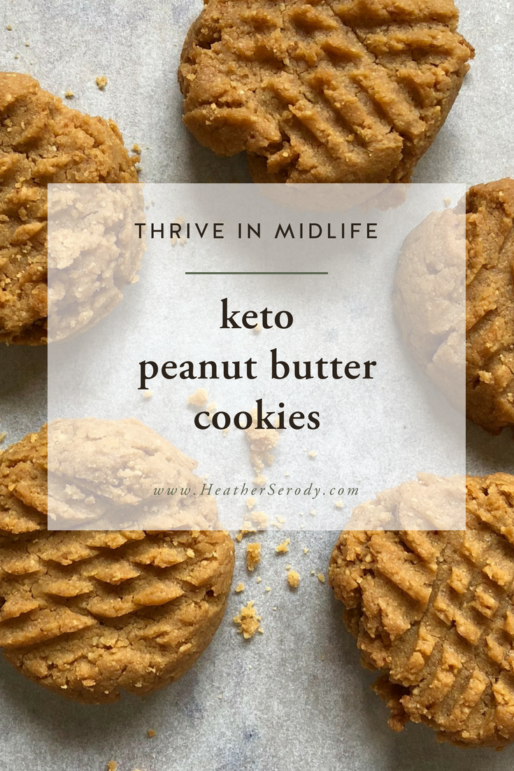 easy keto peanut butter cookies recipe - Thrive In Midlife #keto #LCHF #ketodesserts #cookies #peanutbutter