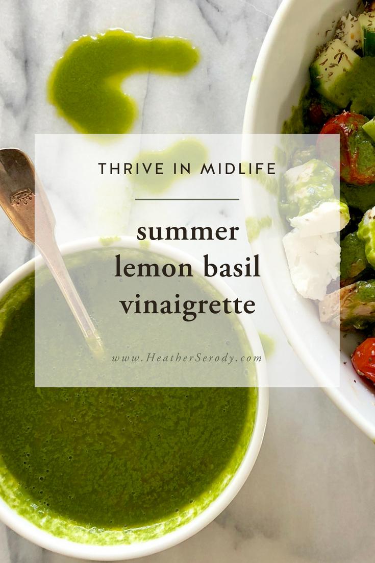 summer lemon basil vinaigrette