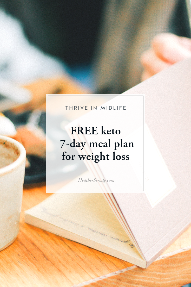 FREE keto 7-day meal plan for weight loss