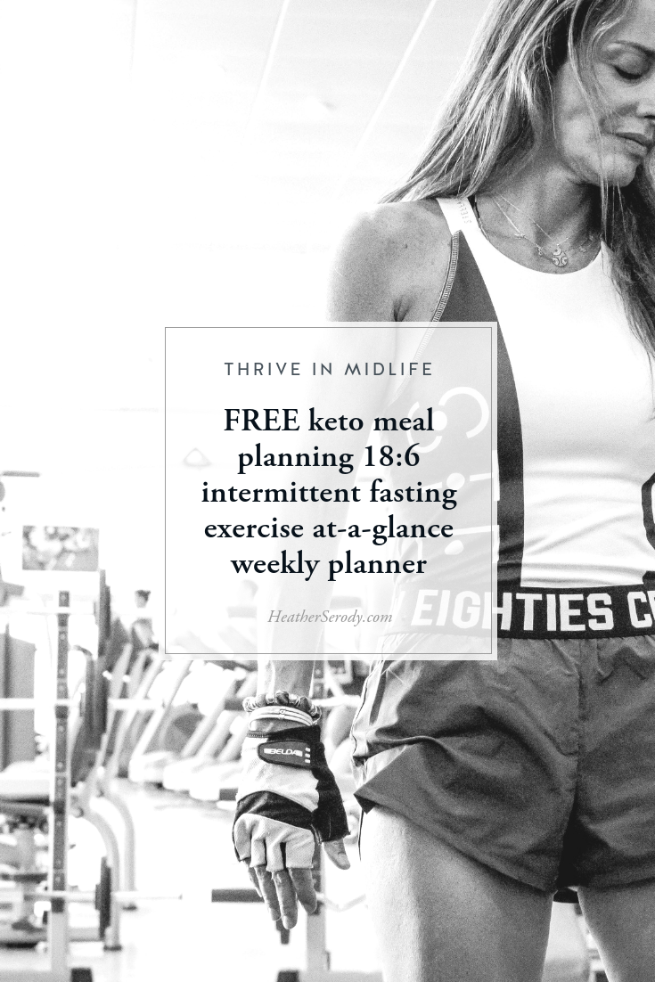 keto meal planning + 18/6 intermittent fasting + exercise at-a-glance weekly planner {FREE PRINTABLE}
