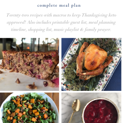 Thanksgiving meal plan cover • Thrive In Midlife