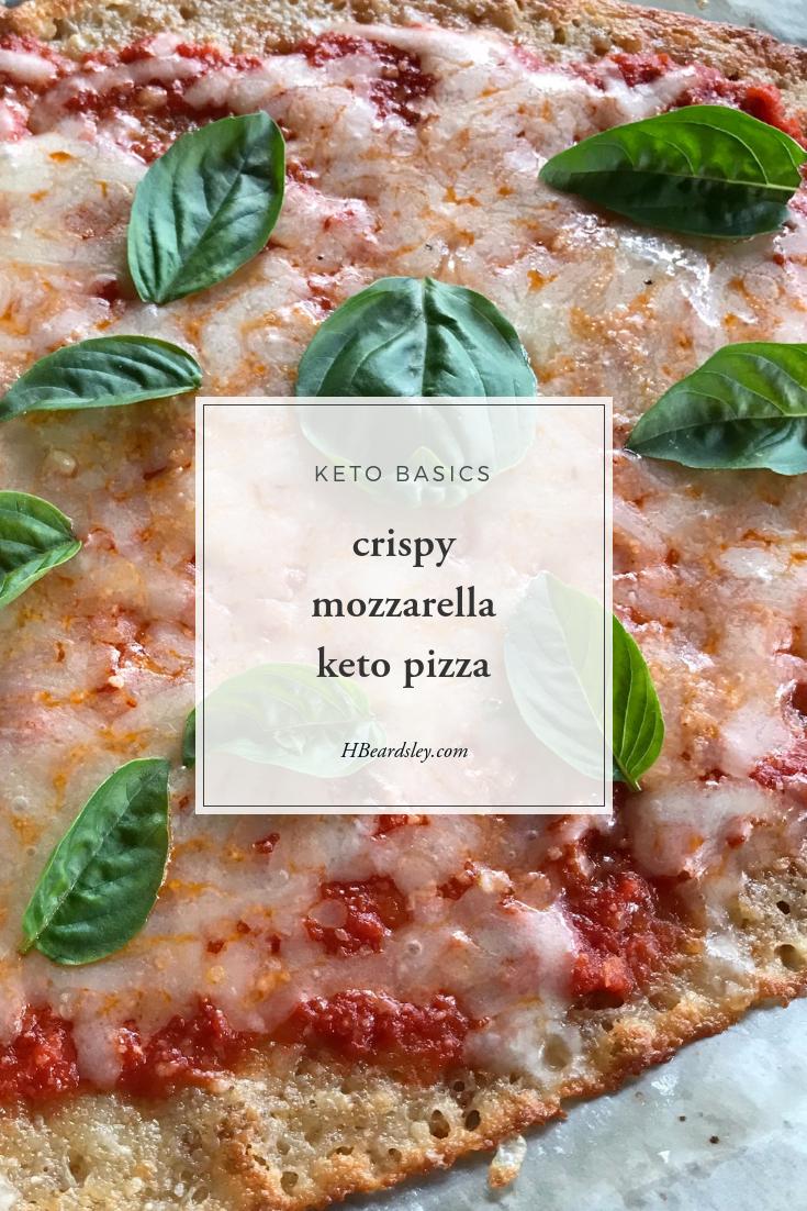 crispy mozzarella keto pizza