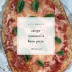 Crispy Mozzarella Keto Pizza HBeardsley.com