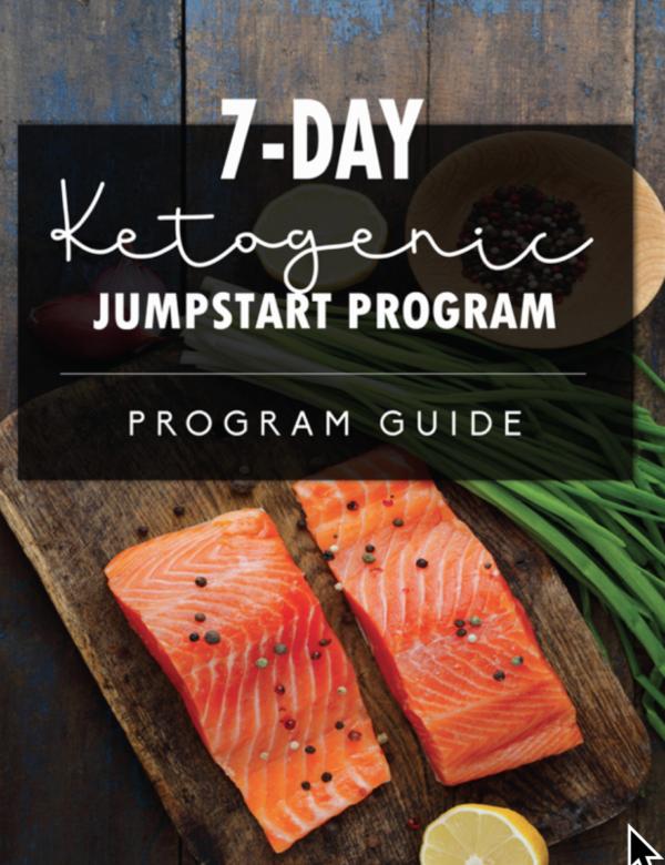 cover of 7 day keto jumpstart program guide