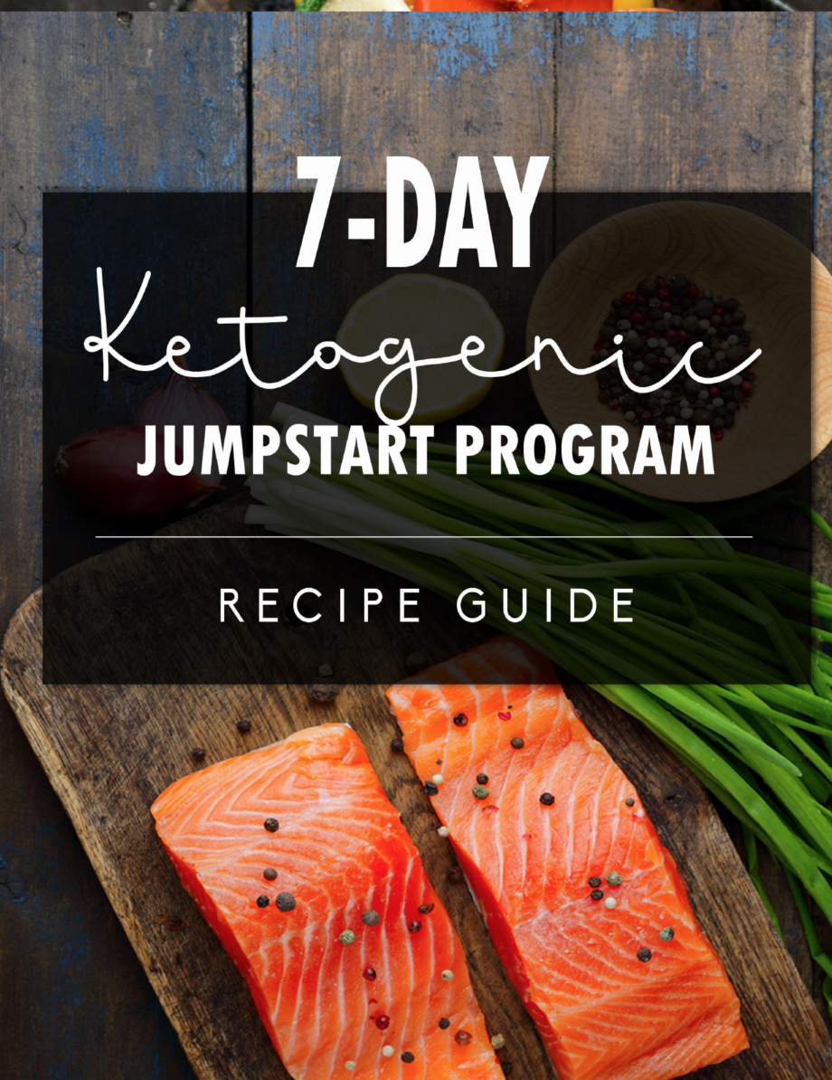 photo is 7 day keto jumpstart recipe guide cover